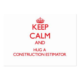 Keep Calm and Hug a Construction Estimator Business Card