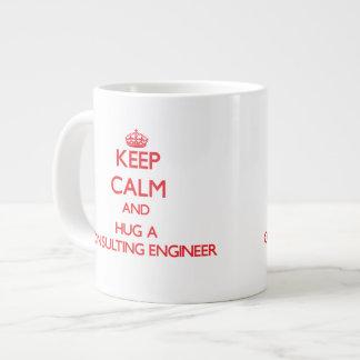 Keep Calm and Hug a Consulting Engineer Extra Large Mug