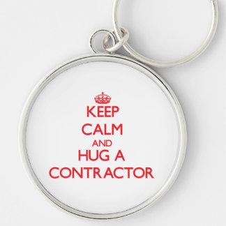 Keep Calm and Hug a Contractor Keychains