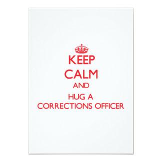 Keep Calm and Hug a Corrections Officer 13 Cm X 18 Cm Invitation Card