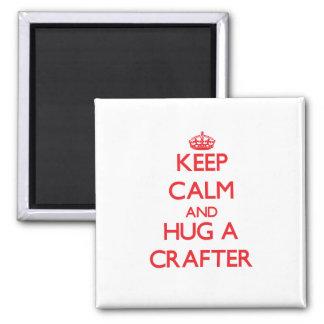 Keep Calm and Hug a Crafter Fridge Magnet