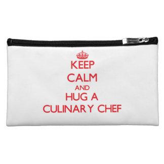 Keep Calm and Hug a Culinary Chef Makeup Bag