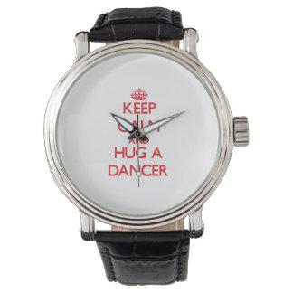 Keep Calm and Hug a Dancer Wristwatch