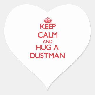 Keep Calm and Hug a Dustman Stickers