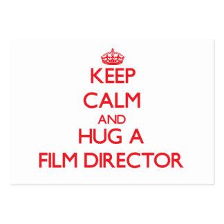 Keep Calm and Hug a Film Director Business Card