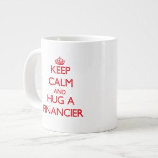 Keep Calm and Hug a Financier Jumbo Mug