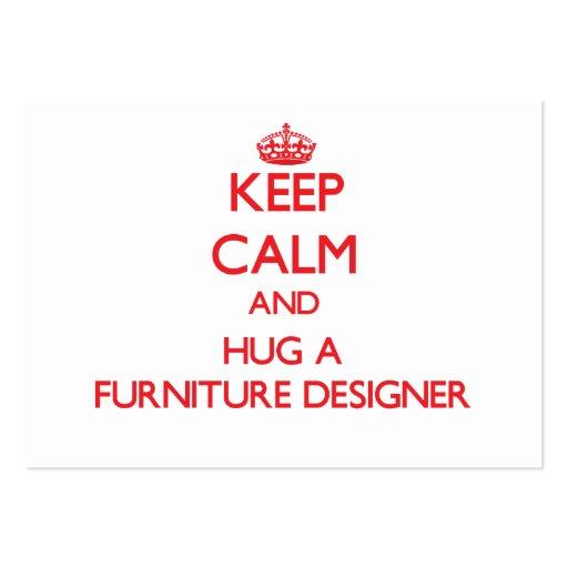 Keep Calm and Hug a Furniture Designer Business Card