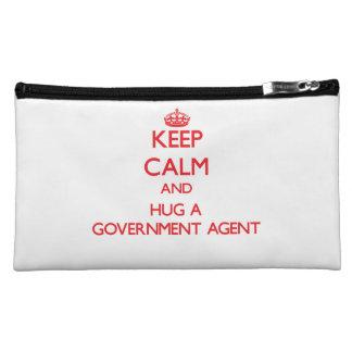 Keep Calm and Hug a Government Agent Cosmetic Bag