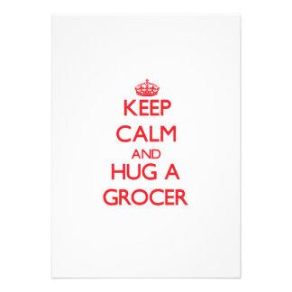 Keep Calm and Hug a Grocer Custom Announcement