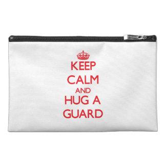 Keep Calm and Hug a Guard Travel Accessory Bag