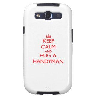 Keep Calm and Hug a Handyman Galaxy SIII Covers