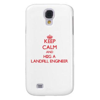Keep Calm and Hug a Landfill Engineer Galaxy S4 Case