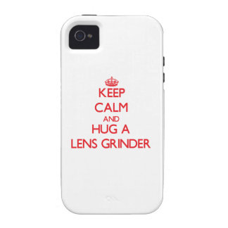 Keep Calm and Hug a Lens Grinder iPhone 4/4S Case