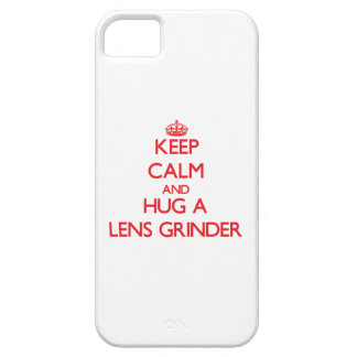 Keep Calm and Hug a Lens Grinder iPhone 5/5S Cases