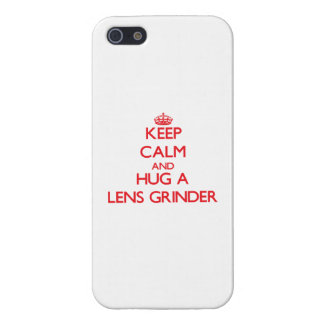 Keep Calm and Hug a Lens Grinder iPhone 5/5S Cover
