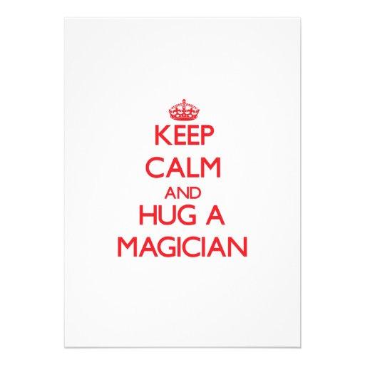 Keep Calm and Hug a Magician Invite