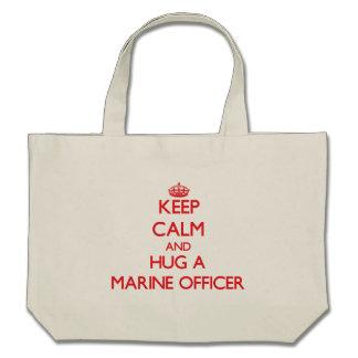 Keep Calm and Hug a Marine Officer Canvas Bags
