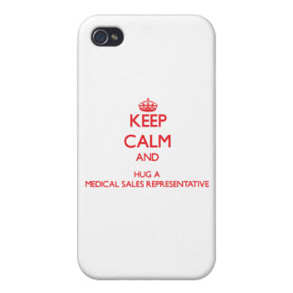 Keep Calm and Hug a Medical Sales Representative iPhone 4 Cover