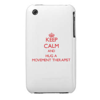 Keep Calm and Hug a Movement Therapist iPhone 3 Case