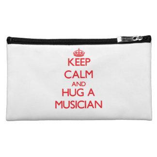Keep Calm and Hug a Musician Makeup Bags