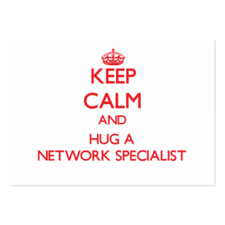 Keep Calm and Hug a Network Specialist Business Card Template