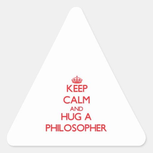 Keep Calm and Hug a Philosopher Sticker