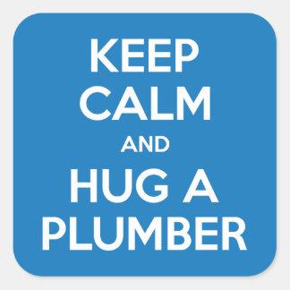 Keep Calm and Hug A Plumber Stickers