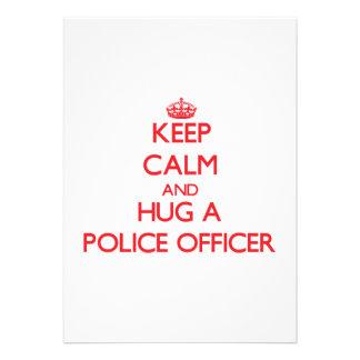 Keep Calm and Hug a Police Officer Custom Invites