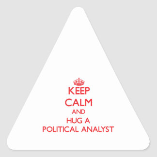 Keep Calm and Hug a Political Analyst Stickers