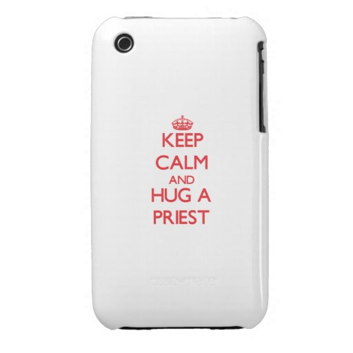 Keep Calm and Hug a Priest Case-Mate iPhone 3 Case