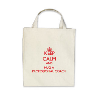 Keep Calm and Hug a Professional Coach Bags