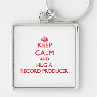 Keep Calm and Hug a Record Producer Keychains
