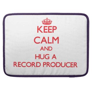 Keep Calm and Hug a Record Producer Sleeve For MacBooks