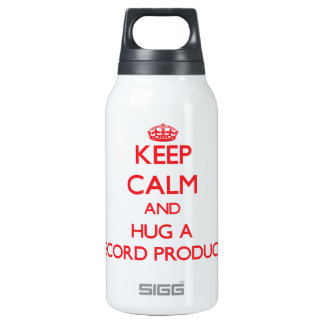 Keep Calm and Hug a Record Producer 10 Oz Insulated SIGG Thermos Water Bottle