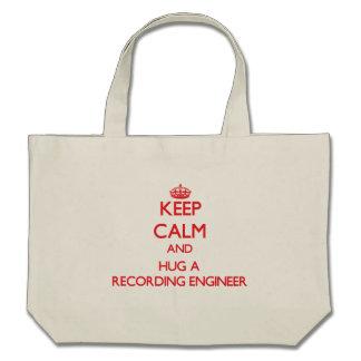 Keep Calm and Hug a Recording Engineer Tote Bags