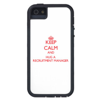 Keep Calm and Hug a Recruitment Manager iPhone 5 Covers