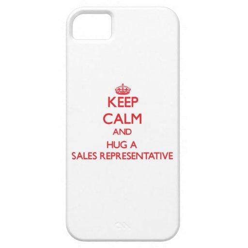 Keep Calm and Hug a Sales Representative iPhone 5 Cover