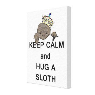 Keep Calm and Hug a Sloth Meme Canvas Prints
