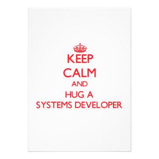 Keep Calm and Hug a Systems Developer Custom Invites