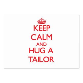 Keep Calm and Hug a Tailor Business Cards