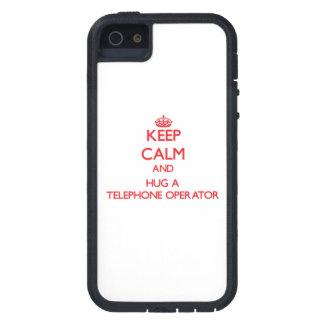 Keep Calm and Hug a Telephone Operator iPhone 5 Covers