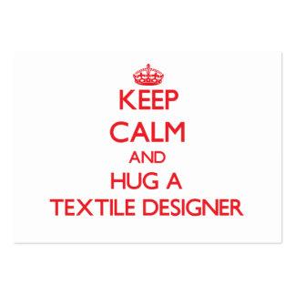 Keep Calm and Hug a Textile Designer Business Card Templates