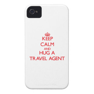 Keep Calm and Hug a Travel Agent iPhone 4 Case