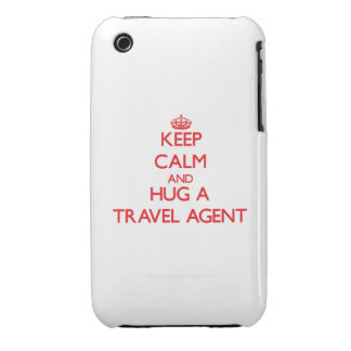 Keep Calm and Hug a Travel Agent iPhone 3 Case