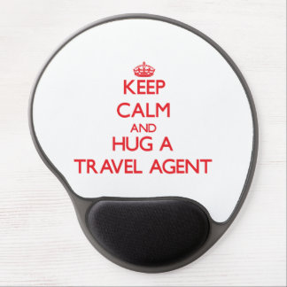 Keep Calm and Hug a Travel Agent Gel Mouse Mats