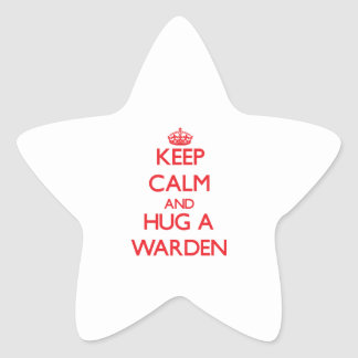 Keep Calm and Hug a Warden Star Stickers