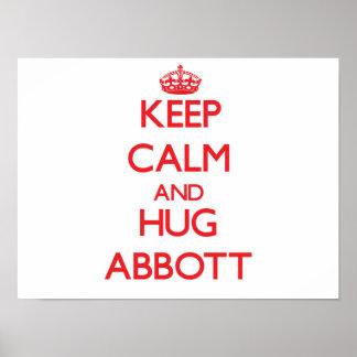 Keep calm and Hug Abbott Print