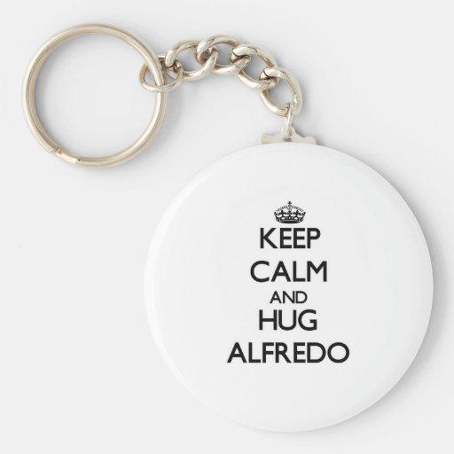 Keep Calm and HUG Alfredo Key Chain