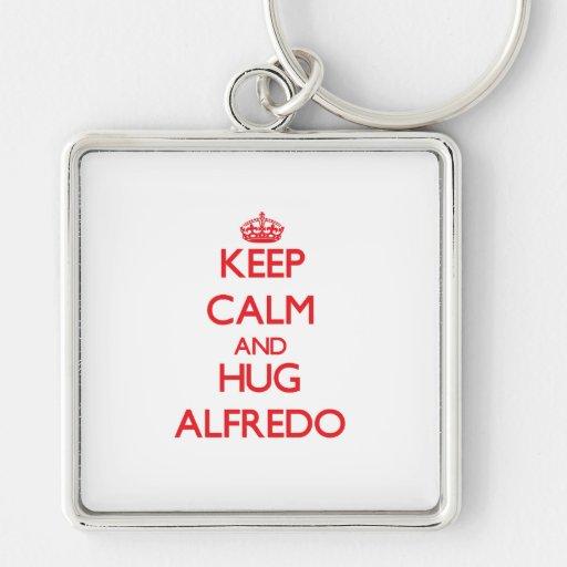 Keep Calm and HUG Alfredo Key Chains