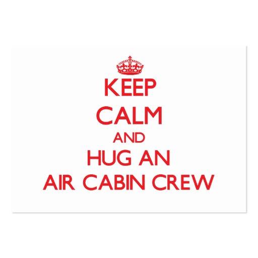 Keep Calm and Hug an Air Cabin Crew Business Card Templates